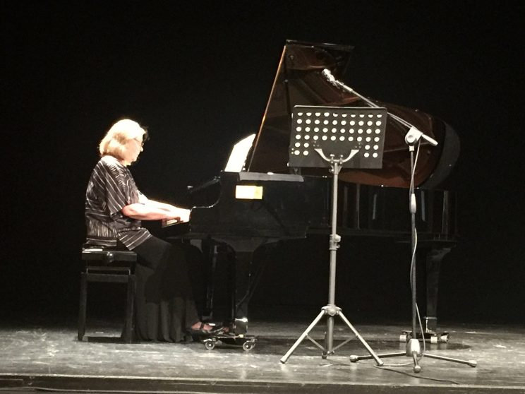 Eila Tarasti playing music by Helvi Leiviskä at Apollo Theater, Syros