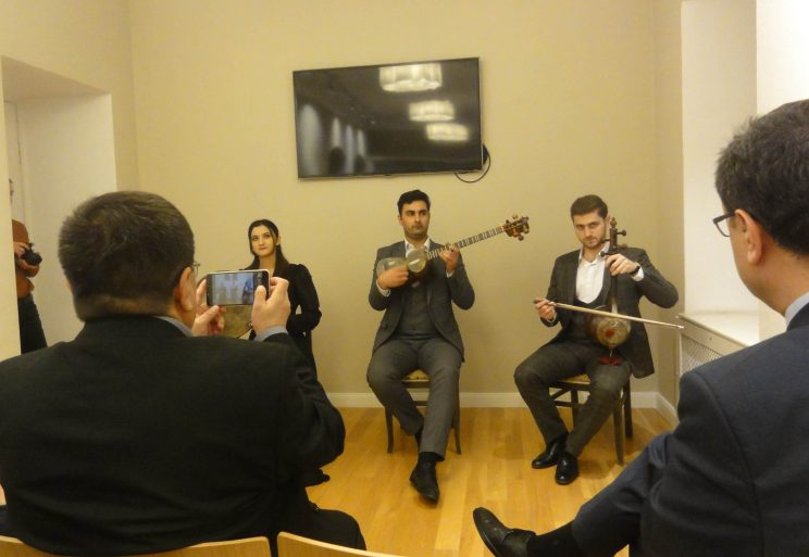 Mugham musicians from Baku Conservatory performing at a pre-Novruz fest